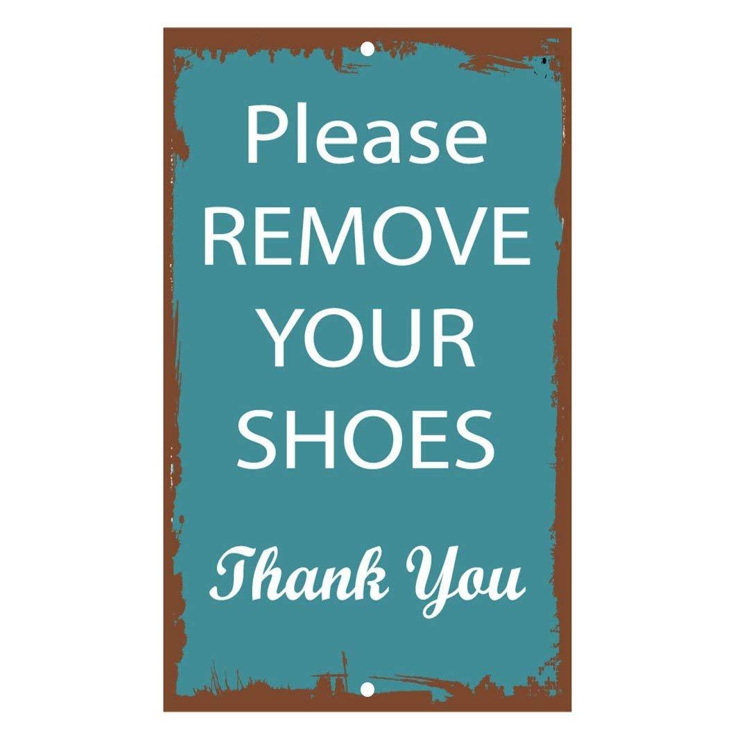 d35972d1ed991 Amazon.com: Iliogine Garage Yard Fence Sign Please Remove Your Shoes ...