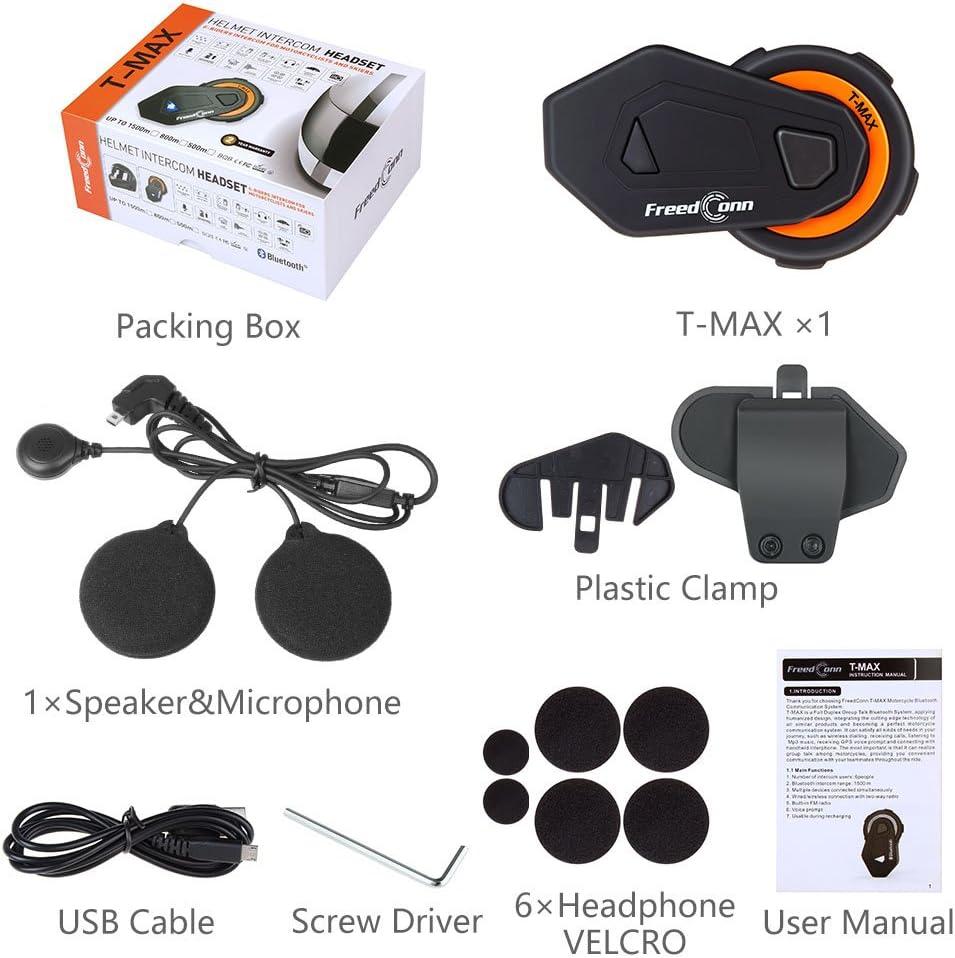 Cuffie Interfono Moto Bluetooth 1500M Sistema di Comunicazione Intercom auricolare casco moto