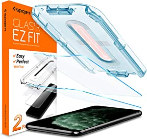 Spigen Tempered Glass Screen Protector [Glas.tR EZ Fit] designed for iPhone 11 Pro Max/iPhone Xs Max [6.5 inch] [Case Friendly] - 2 Pack