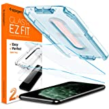 "SPIGEN Tempered Glass Screen Protector Glas.tR EZ Fit for iPhone 11 Pro Max/XS Max (6.5""), Case Friendly, Crystal Clear, 9H tempered Glass, iPhone 11 Pro Max Screen Protector, 2 Pack"