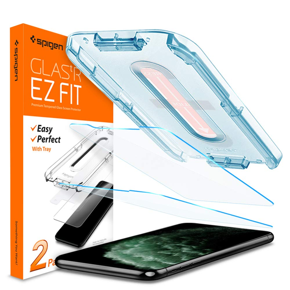 Spigen Tempered Glass Screen Protector [Glas.tR EZ Fit] Designed for iPhone 11 Pro Max/iPhone Xs Max [6.5 inch] [Case Friendly] - 2 Pack by Spigen