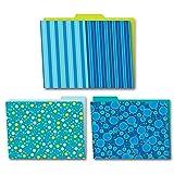 Bubbly Blues Folders 6Pk
