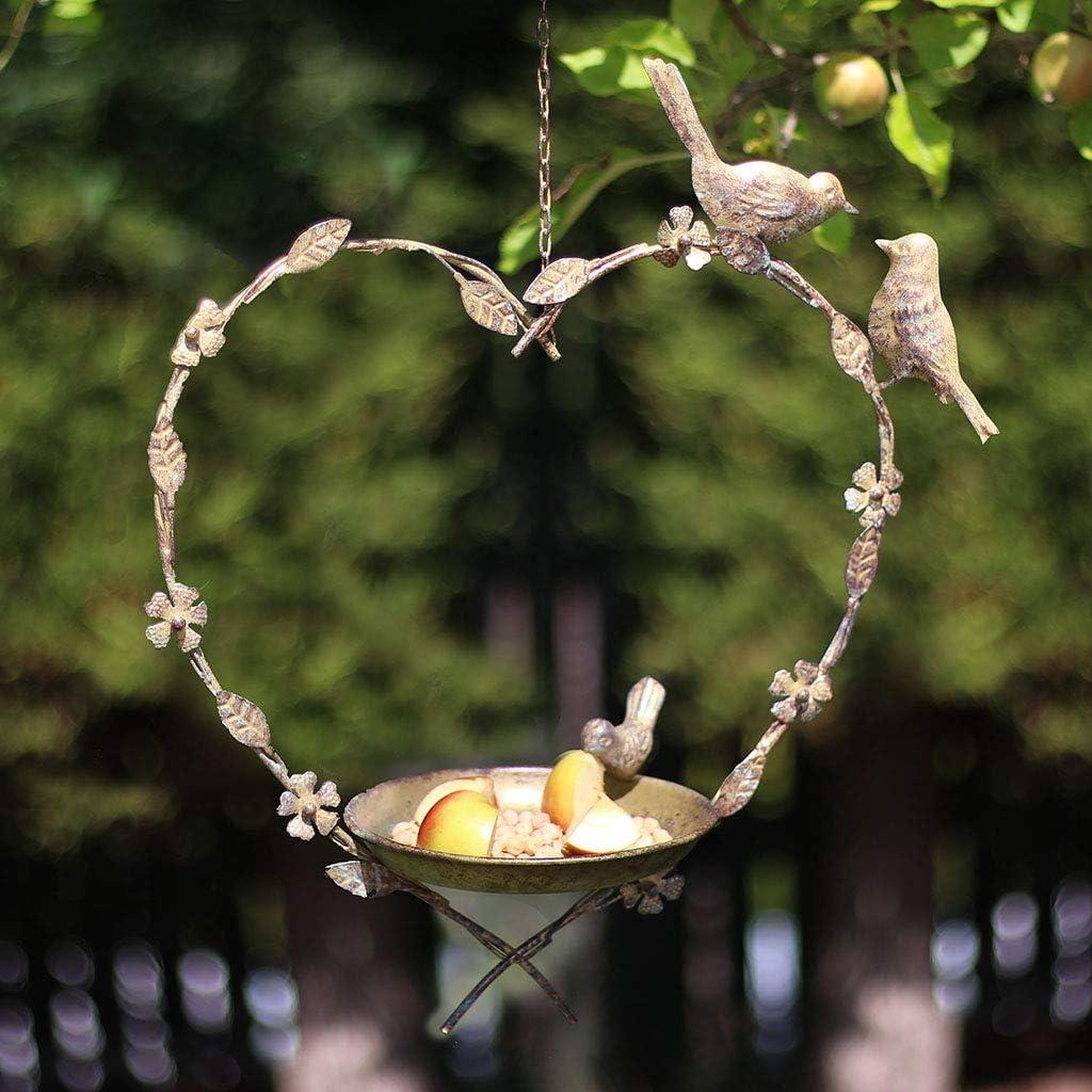 Dibor Bird Feeder Dish Hanging Heart Mother Day Gardening Gift