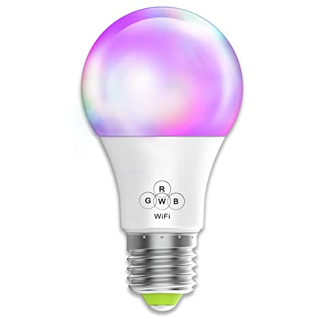 Magic Hue Smart WiFi Light Bulb, No Hub Required, A19 E26 Smartphone App  Control Multicolored Dimmable Light Bulb, Compatible with Alexa Google Home