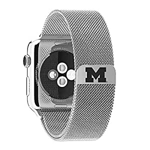 "Michigan Wolverines Stainless Steel Band Fits Apple Watchâ""¢"