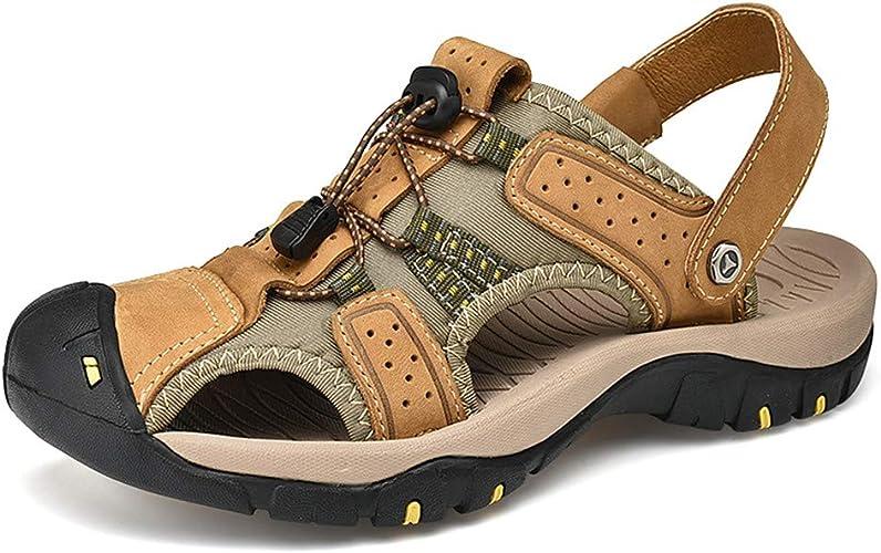 Sandale Hommes de Randonnee Cuir Trekking Sports Outdoor