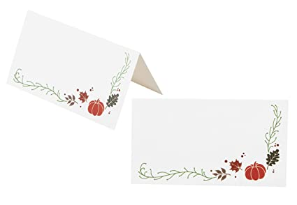 amazon com place cards 100 pack thanksgiving small tent cards