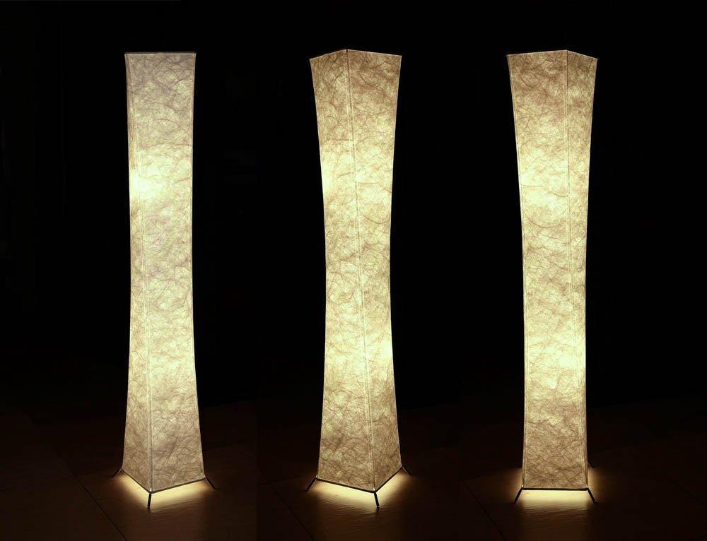 Lampadine LED RGBW + spina UK Yinleader Lampada da Terra Moderno LED Lampadina Inclusa per la Decorazione Soggiorno 20x20x132cm