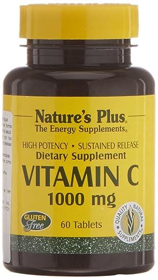 NatureŽs Plus Vitamina C 1000 mg - 60 Comprimidos: Amazon.es: Salud y cuidado personal