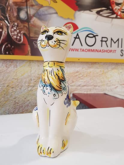 Gatto In Ceramica Di Caltagirone Prezzo E Info Dovete Clikkare Questi Venditori Amazon It Casa E Cucina