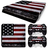 MODFREAKZ™ Console and Controller Vinyl Skin Set - American Flag for PS4 Slim