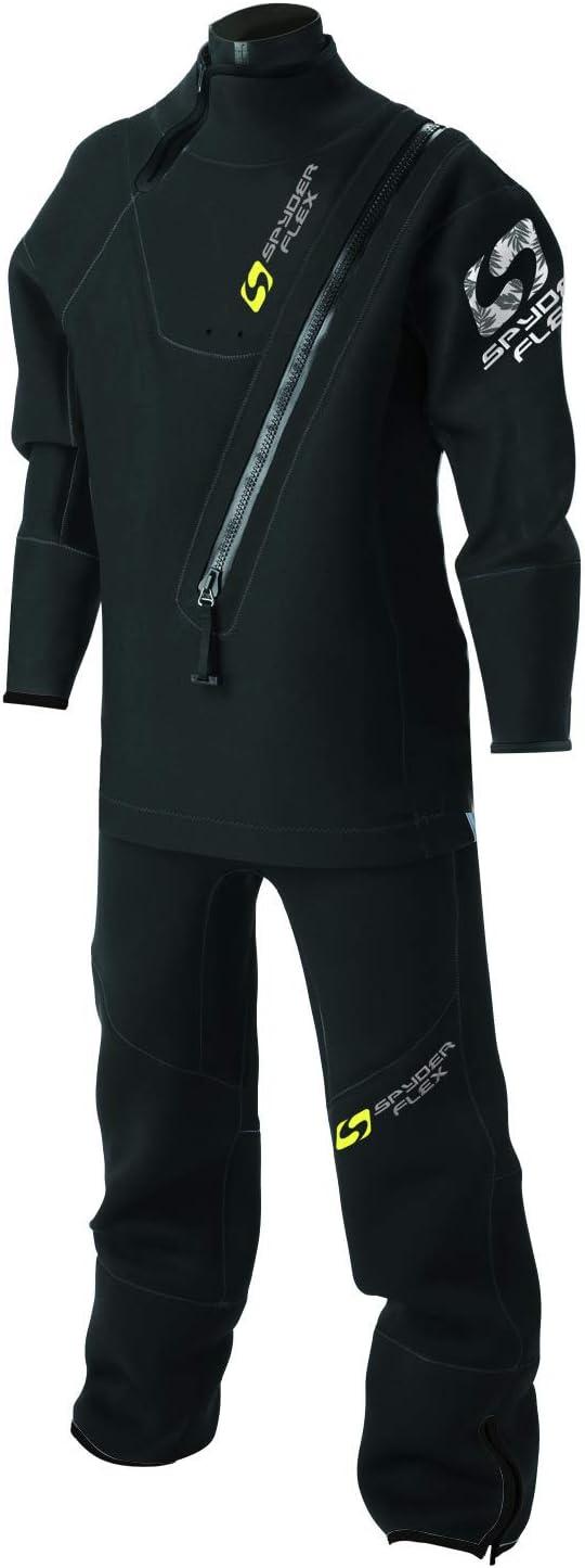 【spyderflex/スパイダーフレックス】ウエットドライスーツ スタンダードタイプ ブラック SWD-38110 メンズ 男性用 保温性  XL