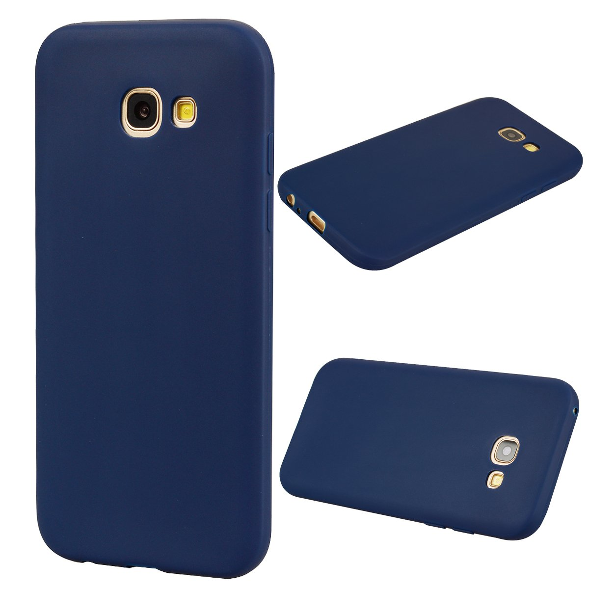 Blau Everainy Kompatibel f/ür Samsung Galaxy A5 2017 Silikon H/ülle Ultrad/ünn H/üllen Handyh/ülle Einfarbig Gummi f/ür Galaxy A5 2017 Schutzh/ülle Sto/ßfest TPU Gel Sto/ßstange Cover