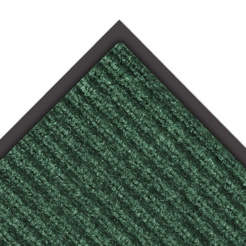 "NoTrax 109 Brush Step Entrance Mat, for Lobbies and Indoor Entranceways, 3' Width x 5' Length x 3/8"" Thickness, Hunter Green"
