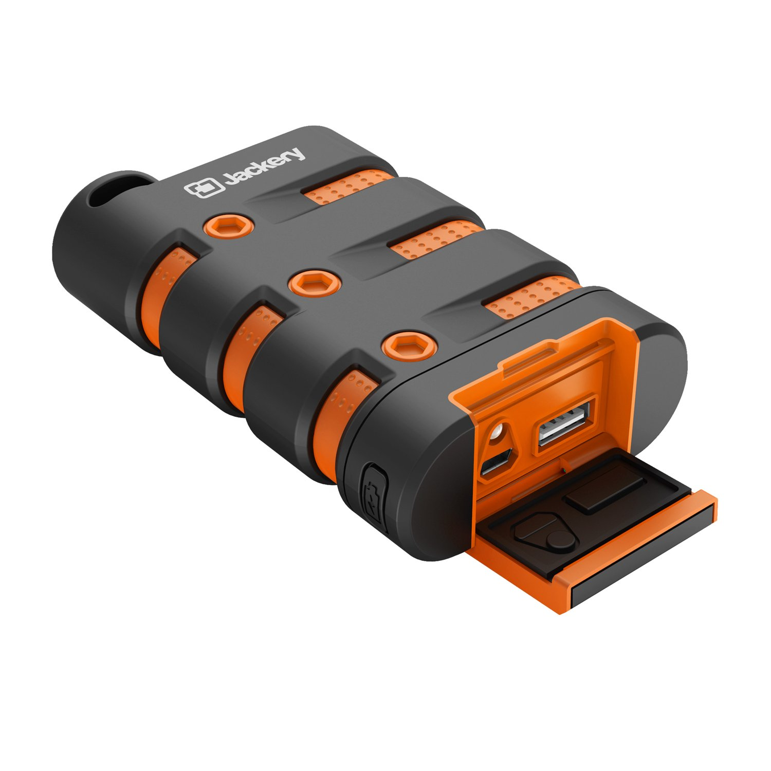 Waterproof Charger Portable Charger, Jackery Armor Power Bank 9000mAh External Battery [Water/Shock/Dust Proof] with Emergency LED Flashlight for Camping, Hiking and Other Outdoor Activities