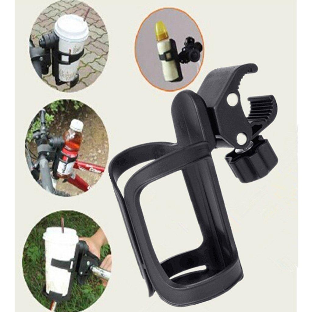 Shoresu Baby Stroller Accessories Cup Holder Cart Bottle Rack for Milk Water Pushchair Carriage Buggy Adjustable Black 14.5cmx6.5cm/5.71x2.56