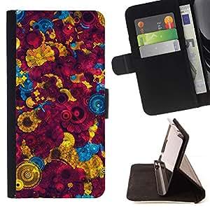 Momo Phone Case / Flip Funda de Cuero Case Cover - Fondo de pantalla colorida Pintura Dise?o Arte - HTC DESIRE 816