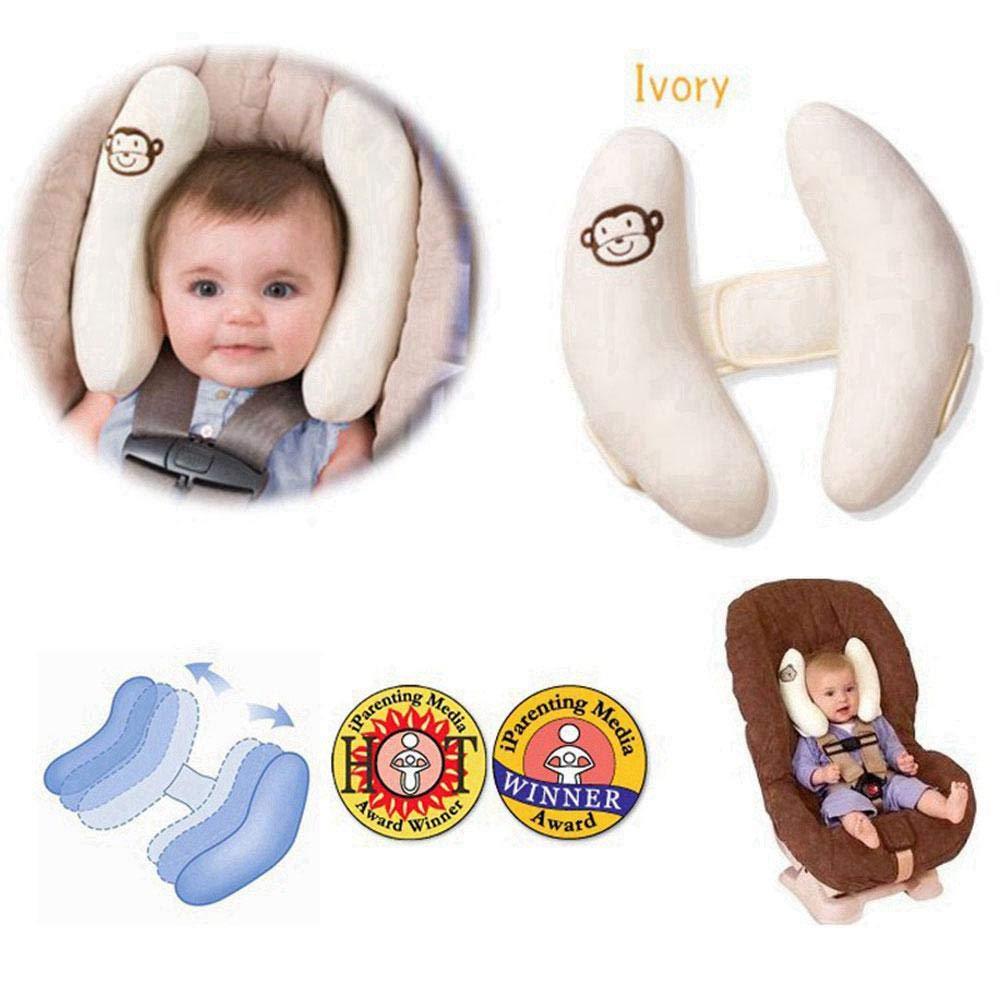 AOLVO Baby Neck Support Pillow Toddler Travel Infant Soft Head Protector Child Car Seat