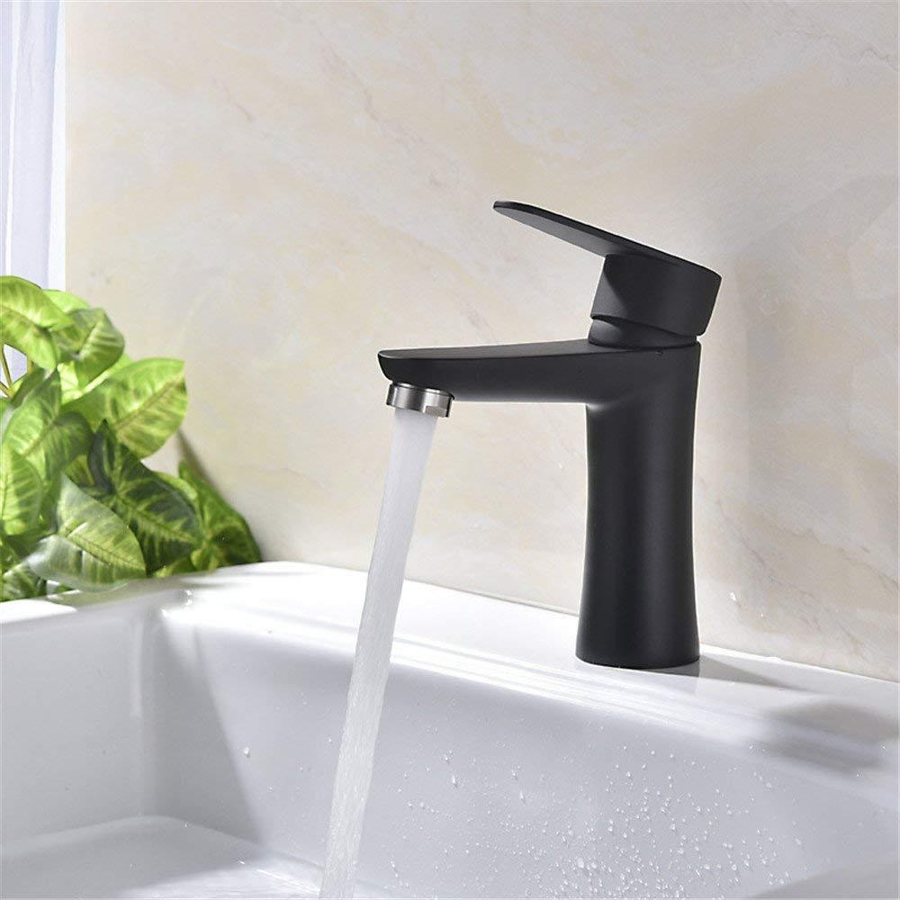 Eeayyygch Edelstahl Hochtemperaturlack heißen und kalten Wasserhahn antioxidativen Umweltschutz Becken schwarz Becken Wasserhahn B (Farbe   B)