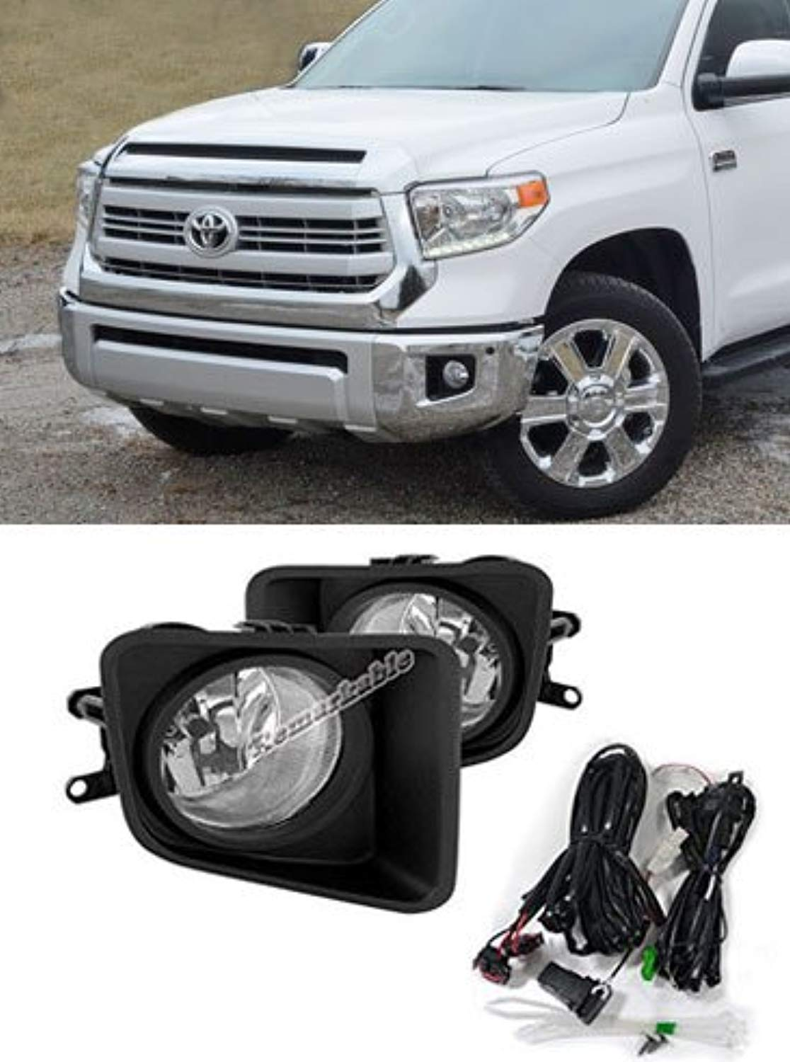 RP Remarkable Power FL7008 Fit for 2014-2019 Tundra Clear Fog Light Kit