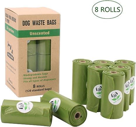 Ceasyde 8 Rollos (120 Bolsas) Bolsas biodegradables para Caca de ...