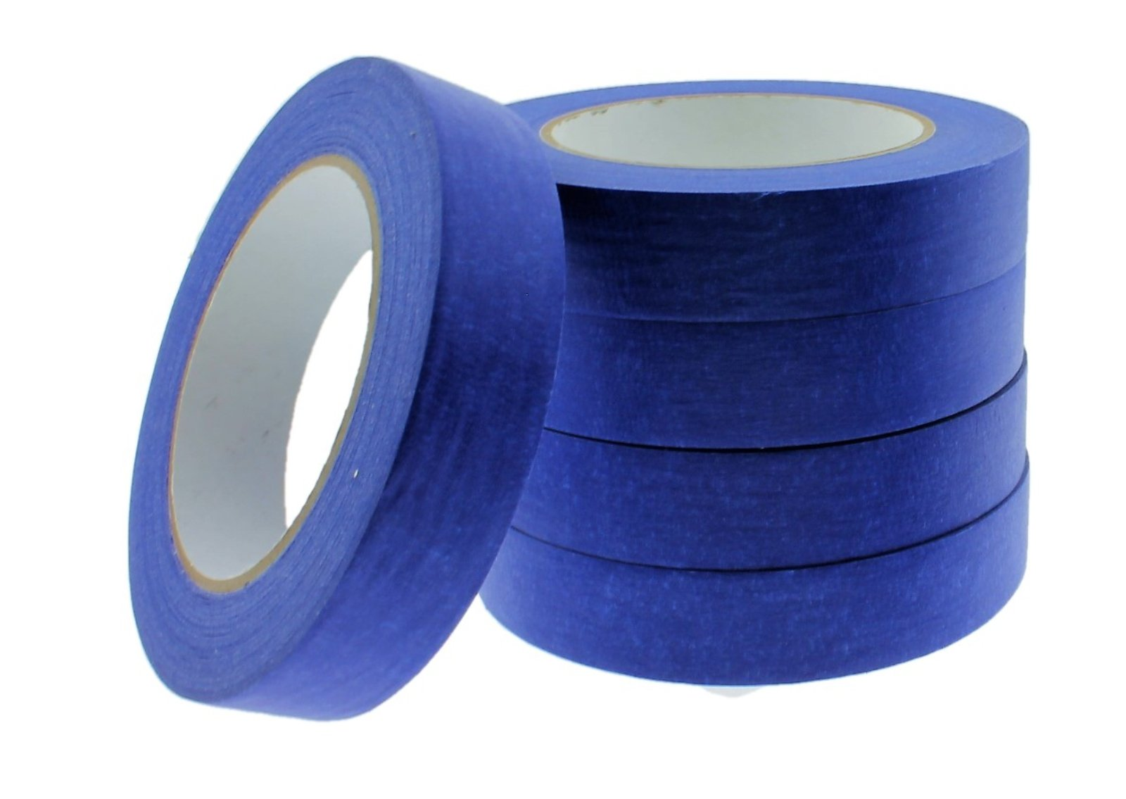 5pk 1'' in Blue Painters Tape EXTRA STICKY Blue Painting Walls Trim Paint Sharp Lines Mask Floors Auto Glass Multi-Surface Tape, Outdoor Use Ok. USA MADE 21 DAY CLEAN RELEASE NO BLEED OR RESIDUE! by TapeSmith