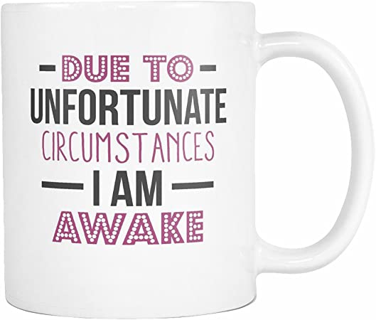 Amazon Com I Am Awake Coffee Mug 11 Ounce Arts Crafts Sewing