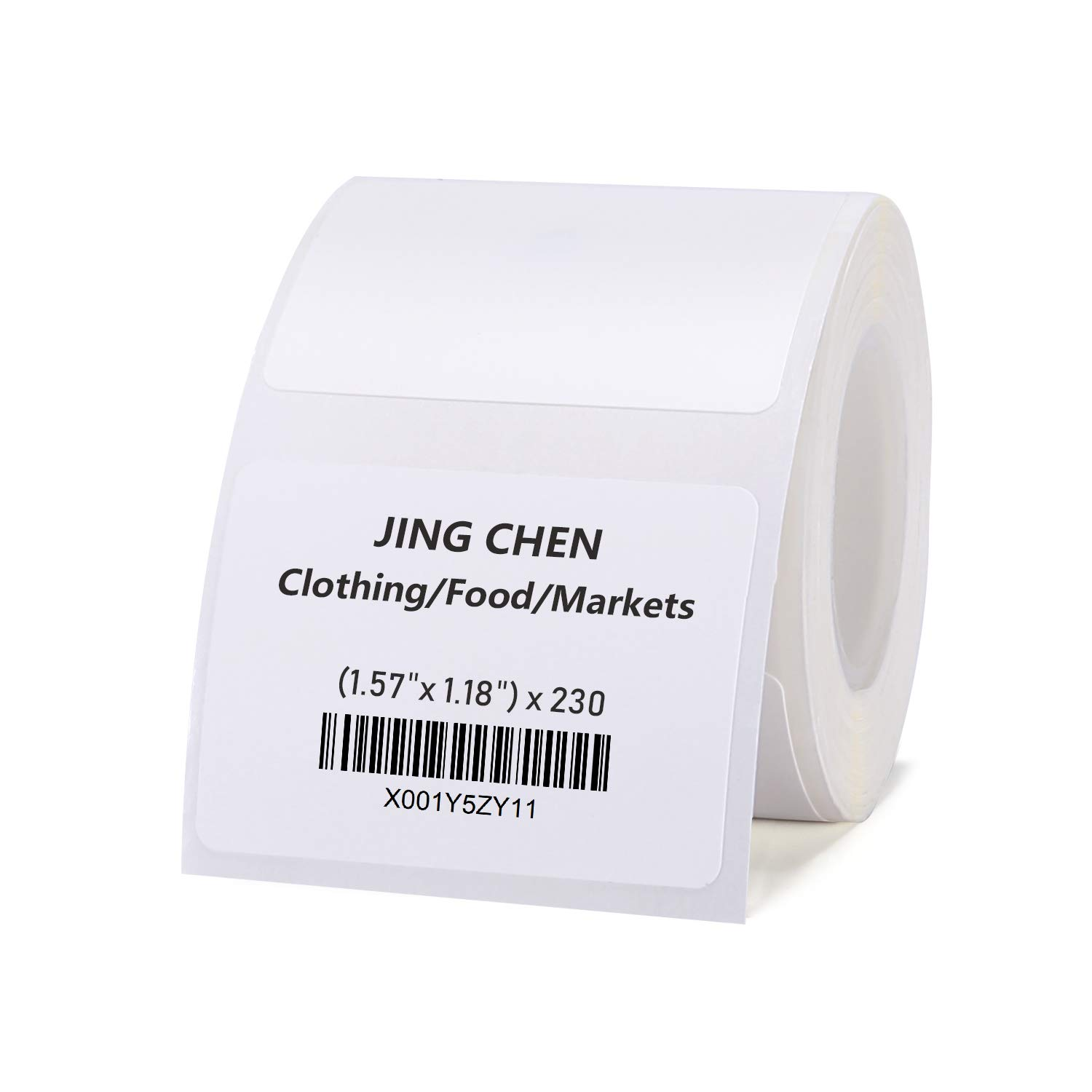 """JINGCHEN Thermal Label Paper, Print with B11/B3, Widely Used in Inventory/Food/Supermarkets/Clothing & Shoes & Hats, Label Printing, 1.57""""x1.18"""", 230 Labels/Roll by JINGCHEN (Image #1)"""