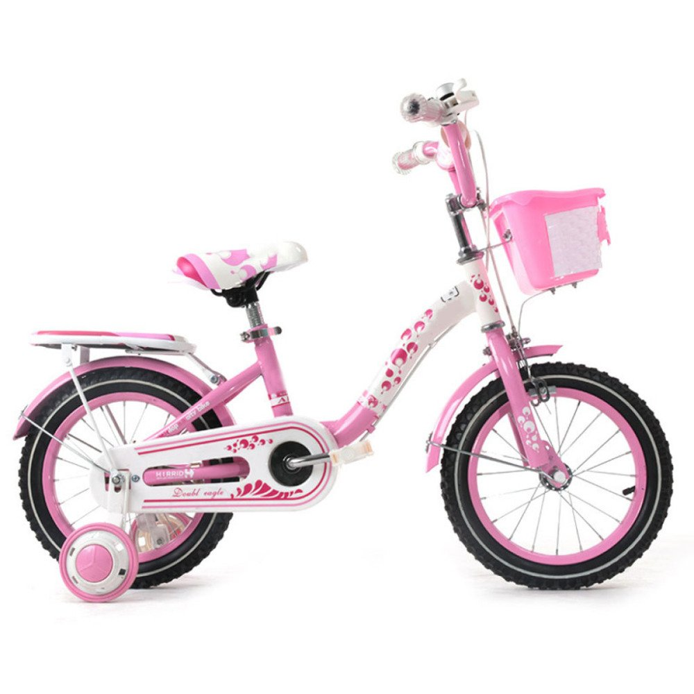 yihangg子供の自転車2 – 10年古い12 /14 /16 /18インチGirlペダルプリンセス調節可能軽量トレーニングホイールバイク B07D1N6TY8Pink(18Inches)