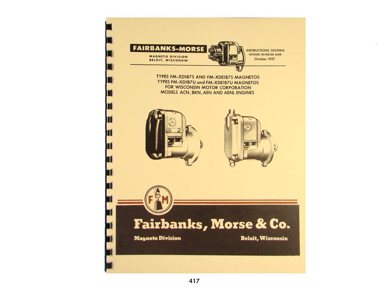 Fairbanks Morse Magneto Instruct & Parts Manual for Wisconsin Engines: Fairbanks  Morse: Amazon.com: Books
