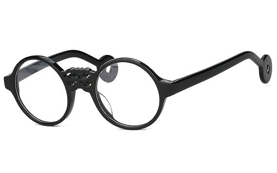 Amazon.com: Agstum Handmade Retro Round Optical Glasses Frames 47mm ...