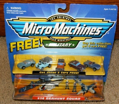 Micro Machines Toy Cars - Micro Machines Seahunt Squad #14 w/5 Bonus Cars Military Collection