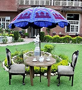 Lal Haveli Special Design Embroiderd Garden Umbrella 52 X 72 Inches