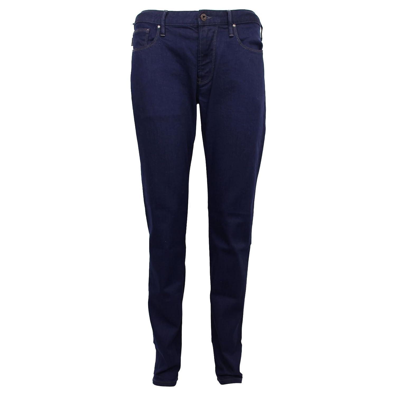b1b8f00ace1 Emporio Armani Armani Jeans J06 Mens Low Rise Slim FIT Blue Denim   Amazon.co.uk  Clothing