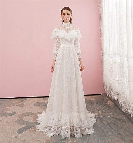 QIUXIANG Robe de mariée Femme Une Ligne/col