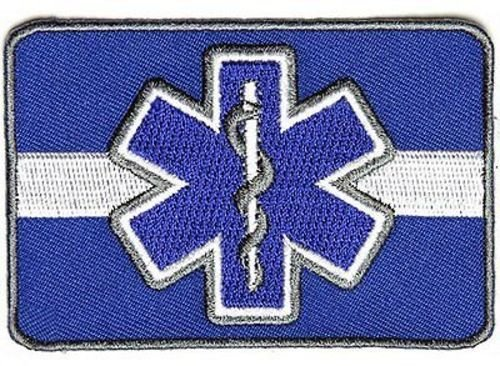 Thin White Line Blue Star of Life EMS Nurse EMT Motorcycle Biker Patch PAT-3792