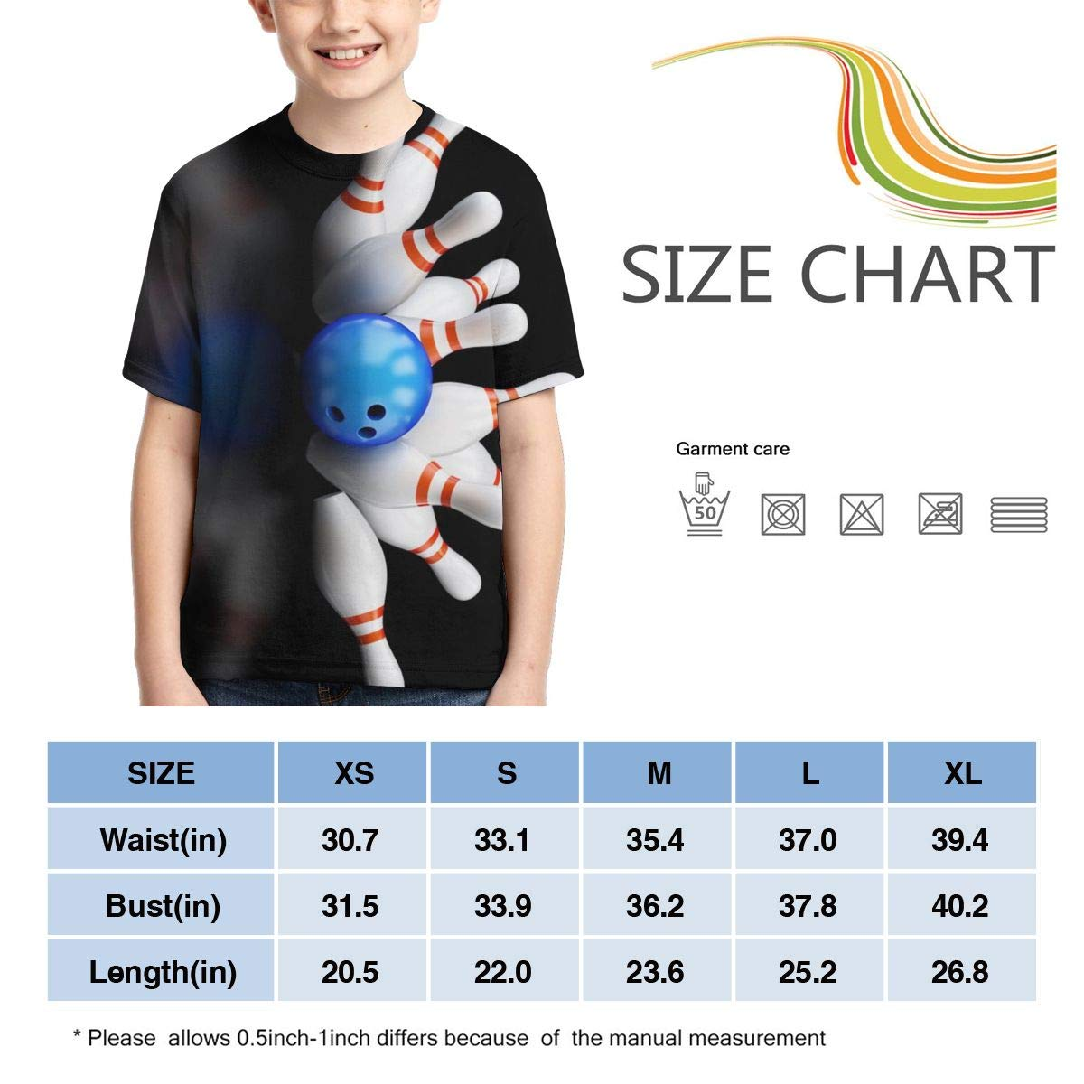 XS-XL Casual Tunic Tops Vy32jg-2 Short-Sleeve Bowlings Shirts for Boys