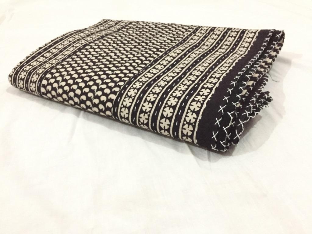 "AMERCRAFTBAZAAR on Sale Queen Double Size Kantha Quilt, Kantha Blanket, Bed Cover, Bedspread, Bohemian Bedding 90108"""