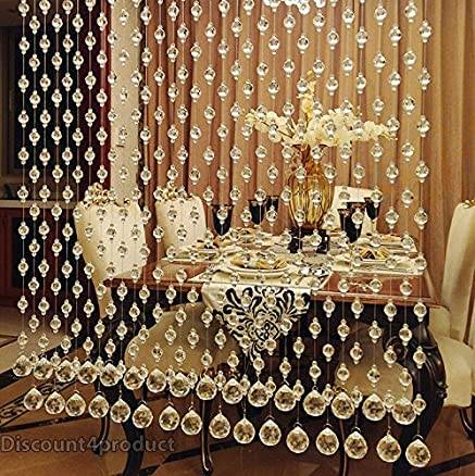 Discount4product Crystal Bead Curtain For Door Or Window Partition