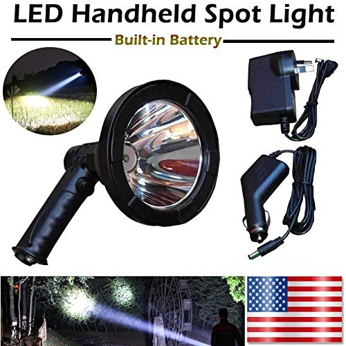 5 Inch T6 LED Rechargeable Hunting Light Handheld Spotlight Flashlight for Fishing Camping Search Light - Waterproof