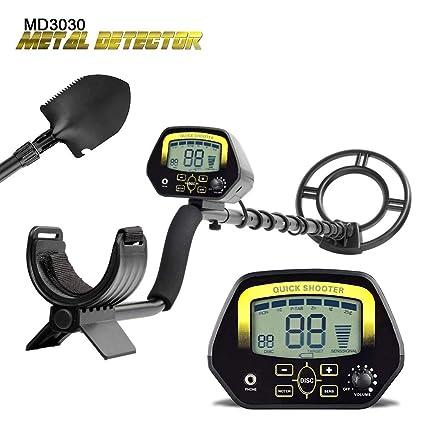 Vogvigo Detectores Detector de Metales Md3030- Ligera Profesionales, Metro Treasure Hunter Pantalla LCD Oro