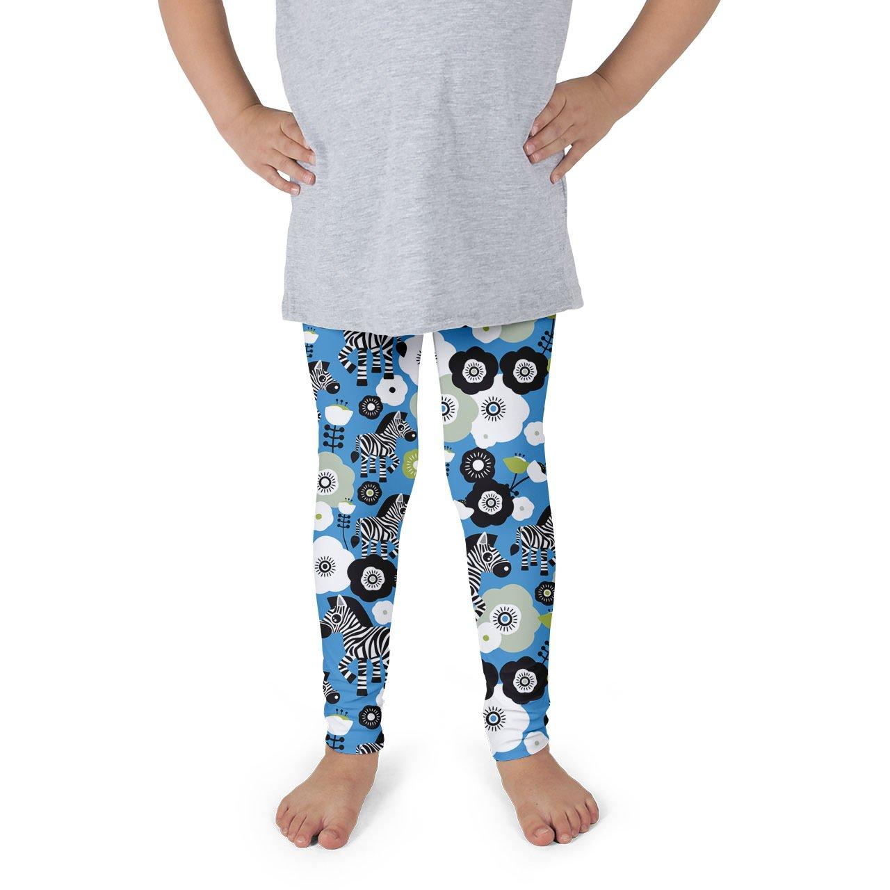 Zebra Blossoms Kids Leggings