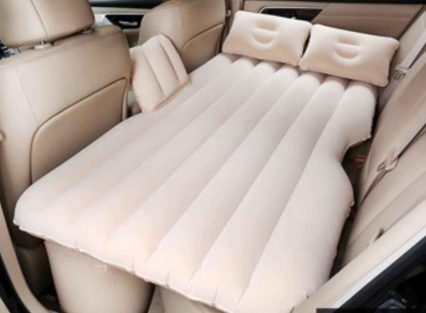 ERHANG Luftmatratzen Luftbett Doppelbett Tragbare Aufblasbare Bett Reisebett Erwachsene Schlafmatte,Beige