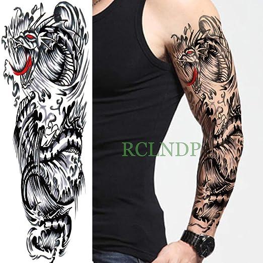 Yyoutop Impermeable Etiqueta Engomada del Tatuaje Temporal dragón ...