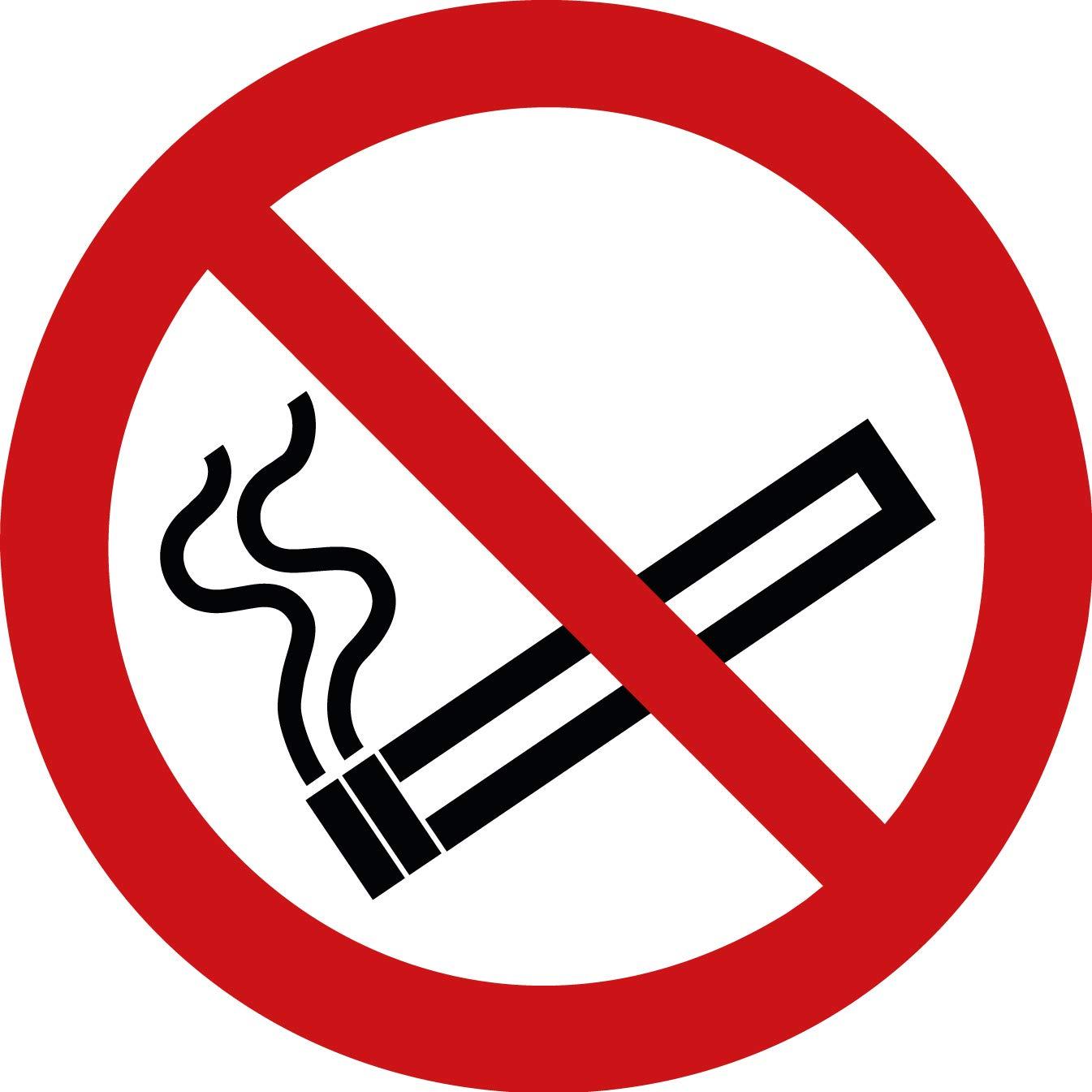 15 Rauchen verboten Aufkleber Rauchen verboten (15 Stü ck), 95 mm Durchmesser - Rauchverbot Aufkleber, Rauchen verboten Schild ü berkleben - Nichtraucher P002 - Rauchen-verboten VANER