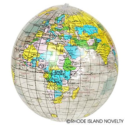 (12 Clear Educational Geography Globes Inflatable Beach BAll)