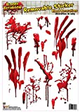 Forum Novelties Bloody Bathroom Tile Clings, Red