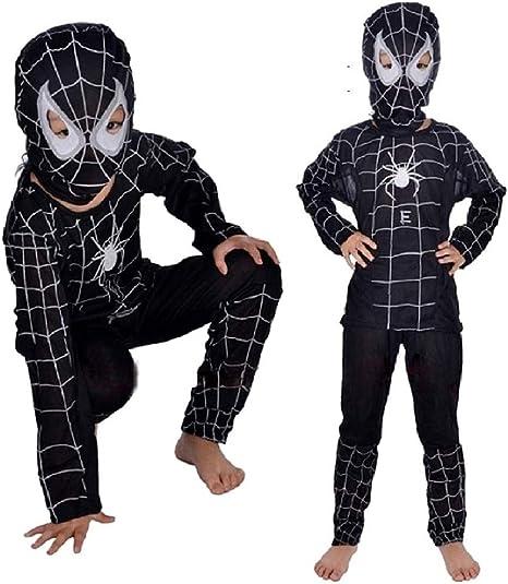 Disfraz de spiderman infantil araña de carnaval superhéroe negro ...