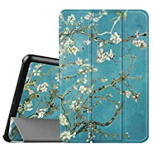Fintie Samsung Galaxy Tab A 8.0 Smart Shell Case - Ultra Slim Lightweight Stand Cover with Auto Sleep/Wake Feature for Samsung Galaxy Tab A 8-Inch Tablet SM-T350, Blossom