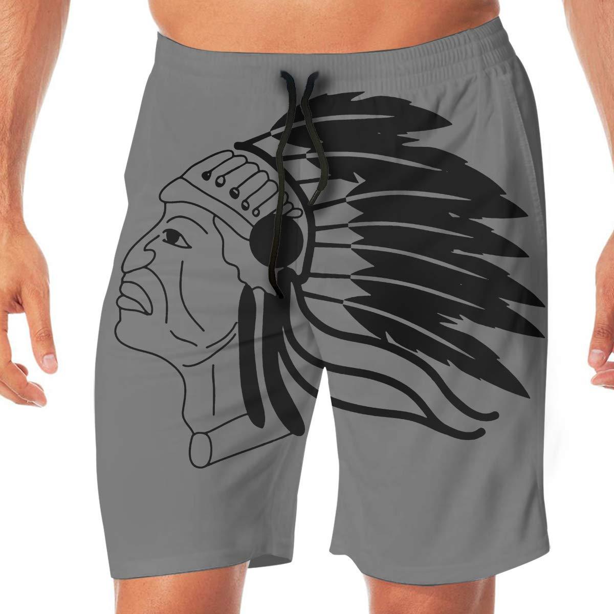 American Indian Mens Beach Shorts Casual Shorts Swim Trunks